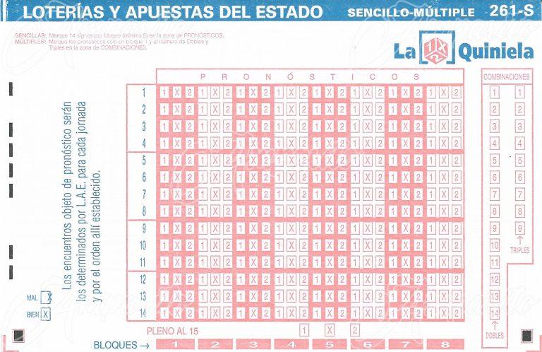 Boleto 1X2 –ESPAÑA- 2007 Sin Partidos