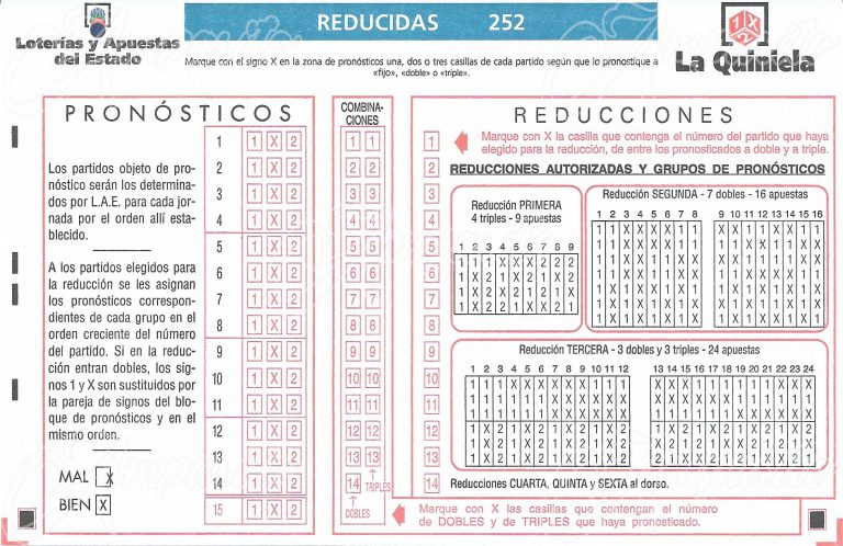 Boleto 1X2 –ESPAÑA- 2013 Método Reducido