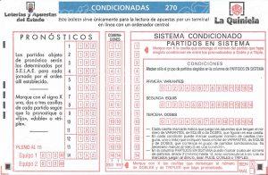 Boleto 1X2 –ESPAÑA- 2014 Método Condicionado