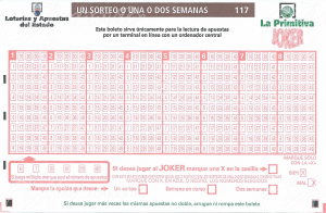 Boleto Lotería Primitiva un sorteo, 1 o 2 semanas 2017
