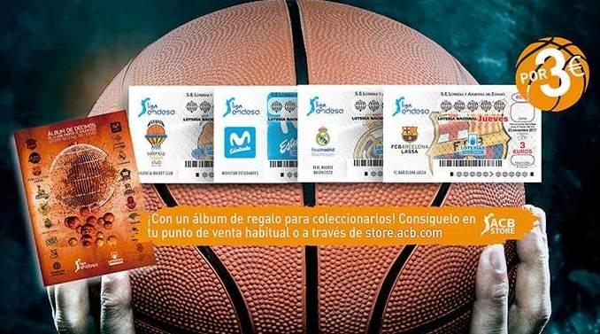 Los clubes de la Liga Endesa serán protagonistas de la Lotería Nacional de los Jueves.