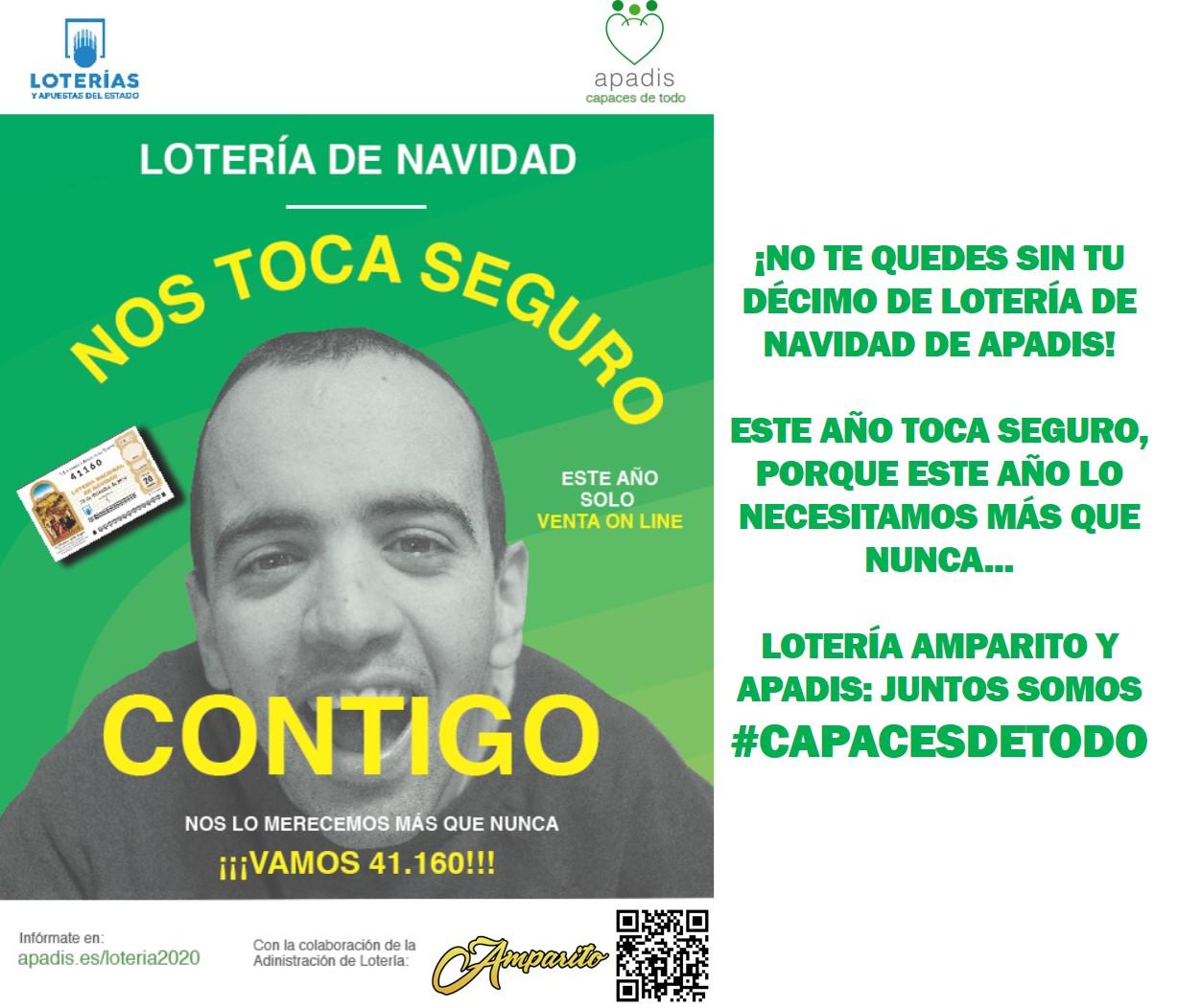 Lotería Amparito y APADIS, la lotería que toca seguro…