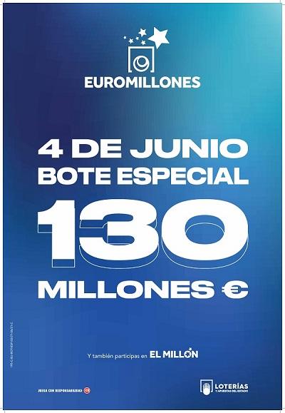 VIERNES 4 DE JUNIO SORTEO ESPECIAL DE EUROMILLONES